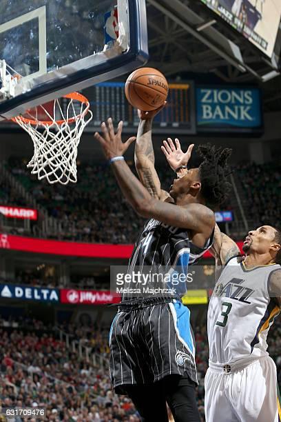 Elfrid Payton of the Orlando Magic goes to the basket against the Utah Jazz on January 14 2017 at vivintSmartHome Arena in Salt Lake City Utah NOTE...
