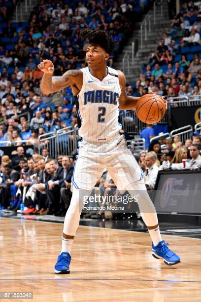 Elfrid Payton of the Orlando Magic handles the ball against the New York Knicks on November 8 2017 at Amway Center in Orlando Florida NOTE TO USER...