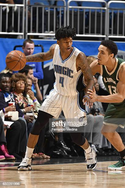 Elfrid Payton of the Orlando Magic handles the ball against the Milwaukee Bucks on January 20 2017 at Amway Center in Orlando Florida NOTE TO USER...