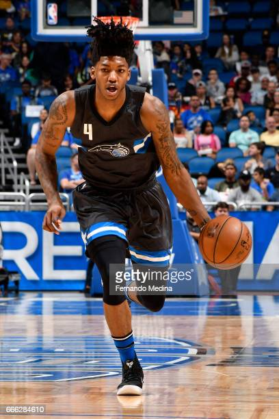 Elfrid Payton of the Orlando Magic handles the ball against the Indiana Pacers on March 24 2017 at Amway Center in Orlando Florida NOTE TO USER User...