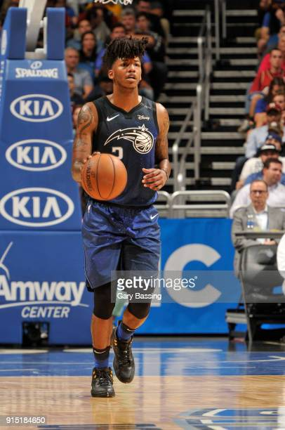 Elfrid Payton of the Orlando Magic handles the ball against the Cleveland Cavaliers on February 6 2018 at Amway Center in Orlando Florida NOTE TO...