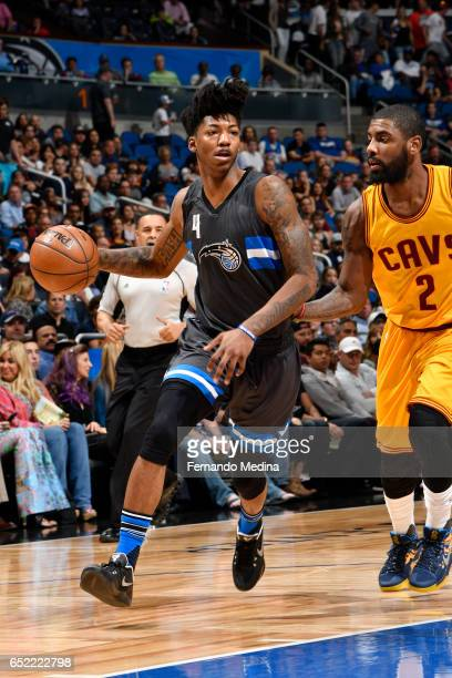 Elfrid Payton of the Orlando Magic handles the ball against the Cleveland Cavaliers during the game on March 11 2017 at Amway Center in Orlando...
