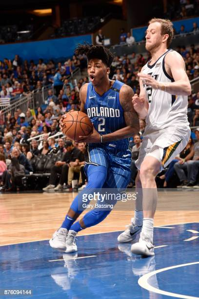 Elfrid Payton of the Orlando Magic handles the ball against the Utah Jazz on November 18 2017 at Amway Center in Orlando Florida NOTE TO USER User...