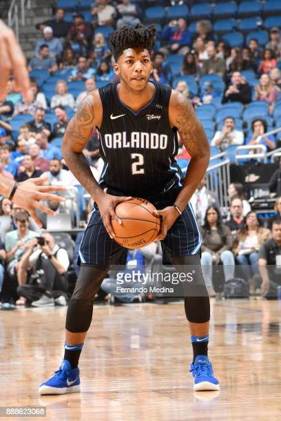 Elfrid Payton of the Orlando Magic looks to pass the ball against the Denver Nuggets on December 8 2017 at the Amway Center in Orlando Florida NOTE...