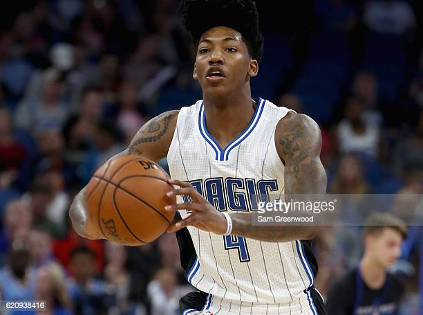 Elfrid Payton of the Orlando Magic makes a pass during the game against the Sacramento Kings at Amway Center on November 3 2016 in Orlando Florida...