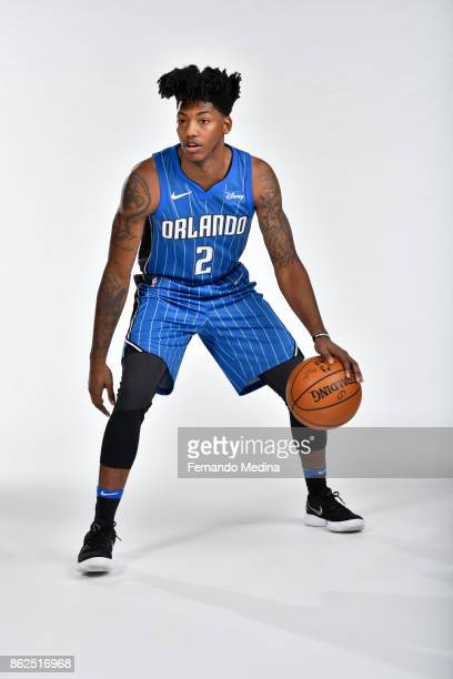 Elfrid Payton of the Orlando Magic poses for a portrait during Magic Media Day 2 on October 6 2017 at Amway Center in Orlando Florida NOTE TO USER...