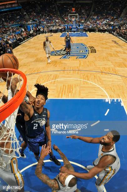 Elfrid Payton of the Orlando Magic shoots the ball during the game against the Cleveland Cavaliers on February 6 2018 at Amway Center in Orlando...