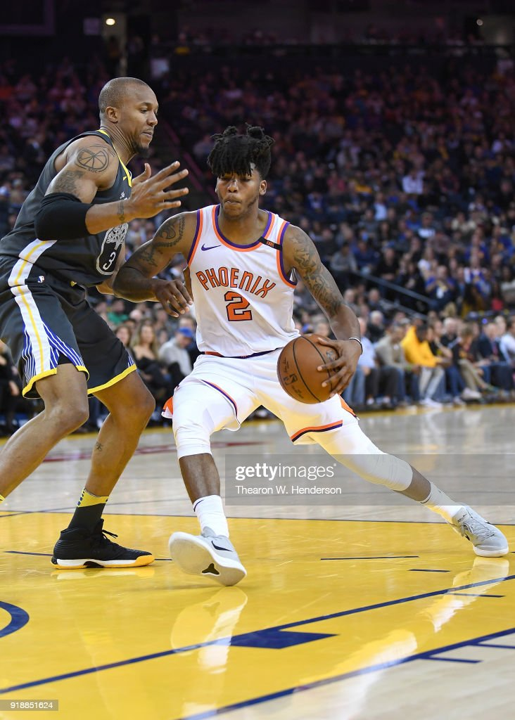 pretty nice 2fafb e7df6 Elfrid Payton of the Phoenix Suns drives towards the basket ...