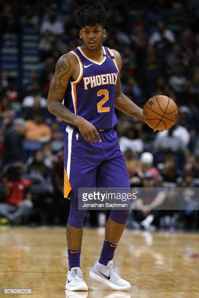 Elfrid Payton of the Phoenix Suns drives with the ball during the first half against the New Orleans Pelicans at the Smoothie King Center on February...