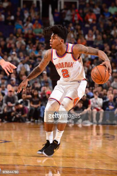 Elfrid Payton of the Phoenix Suns handles the ball against the Oklahoma City Thunder on March 2 2018 at Talking Stick Resort Arena in Phoenix Arizona...