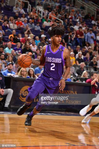 Elfrid Payton of the Phoenix Suns handles the ball against the Denver Nuggets on February 10 2018 at Talking Stick Resort Arena in Phoenix Arizona...