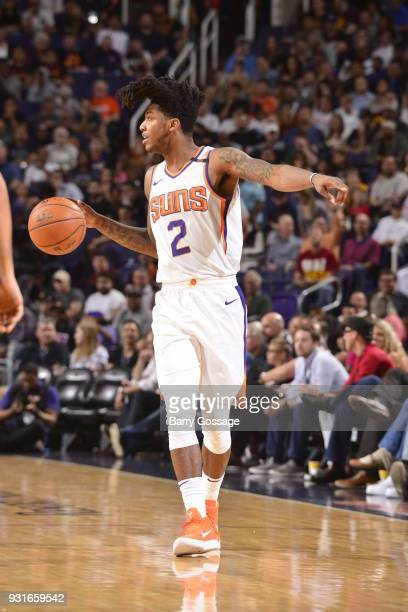 Elfrid Payton of the Phoenix Suns handles the ball against the Cleveland Cavaliers on March 13 2018 at Talking Stick Resort Arena in Phoenix Arizona...