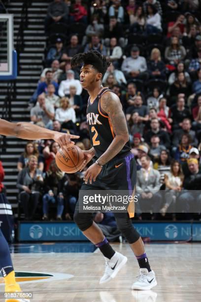Elfrid Payton of the Phoenix Suns handles the ball against the Utah Jazz on February 14 2018 at Vivint Smart Home Arena in Salt Lake City Utah NOTE...