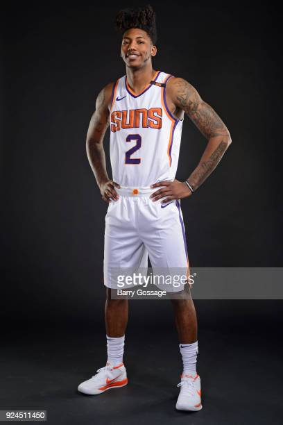 Elfrid Payton of the Phoenix Suns poses for a portrait on February 23 at Talking Stick Resort Arena in Phoenix Arizona NOTE TO USER User expressly...