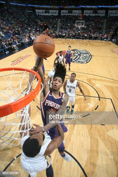Elfrid Payton of the Phoenix Suns shoots the ball against the New Orleans Pelicans on February 26 2018 at the Smoothie King Center in New Orleans...