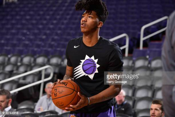 Elfrid Payton of the Phoenix Suns shoots the ball before game against the Denver Nuggets on February 10 2018 at Talking Stick Resort Arena in Phoenix...