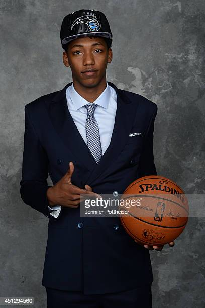 Elfried Payton aquired by the Orlando Magic via trade poses for a portrait during the 2014 NBA Draft at the Barclays Center on June 26 2014 in the...