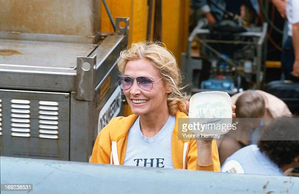 Elga Andersen of the Andrea Doria Project is photographed August 16 1984 at the Brooklyn Aquarium in New York City showing recovered pottery from the...