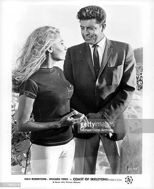 Elga Andersen with Dale Robertson in a scene from the film 'Coast of Skeletons' 1964
