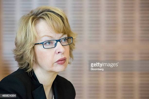 Elga Bartsch chief European economist at Morgan Stanley attends the European Central Bank and its watchers conference in Frankfurt Germany on...