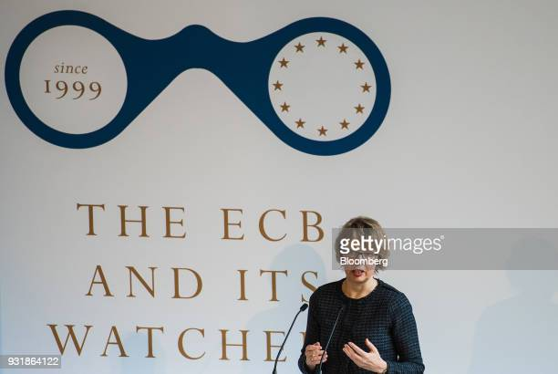 Elga Bartsch chief European economist at Morgan Stanley speaks at the 'ECB and its Watchers' conference in Frankfurt Germany on Wednesday March 14...