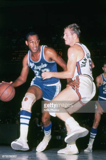Elgin Baylor of the Los Angeles Lakers drives circa 1965 at the Great Western Forum in Inglewood California NOTE TO USER User expressly acknowledges...