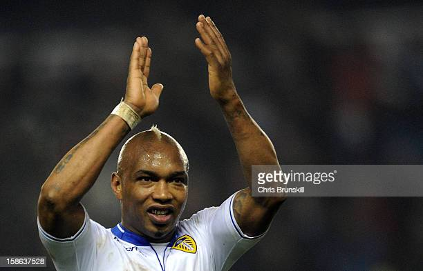 ElHadji Diouf of Leeds United applauds the supporters following the npower Championship match between Leeds United and Middlesbrough at Elland Road...