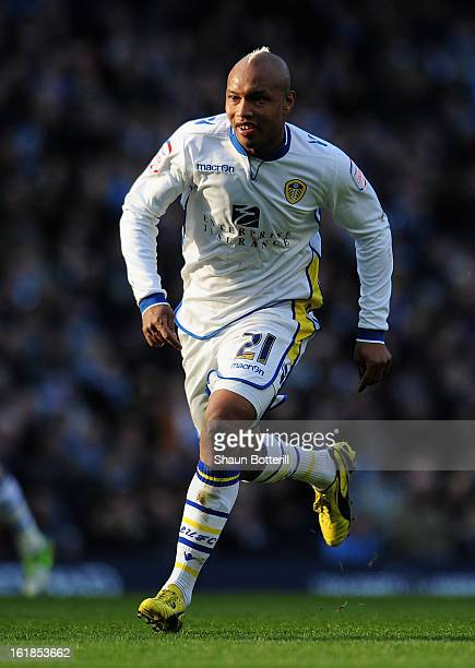ElHadji Diouf of Leeds United in action during the FA Cup with Budweiser Fifth Round match between Manchester City and Leeds United at the Etihad...