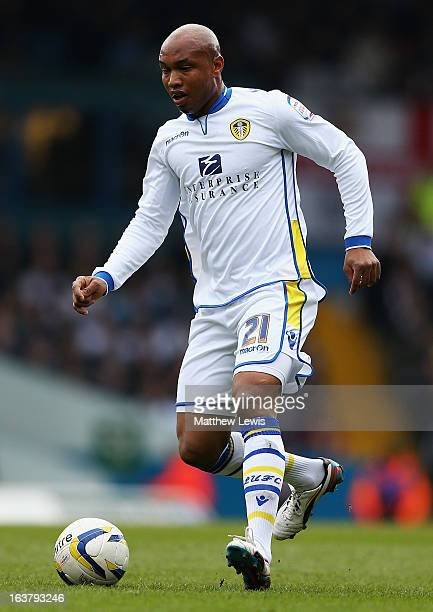 ElHadji Diouf of Leeds United in action during the npower Championship match between Leeds United and Huddersfield Town at Elland Road on March 16...