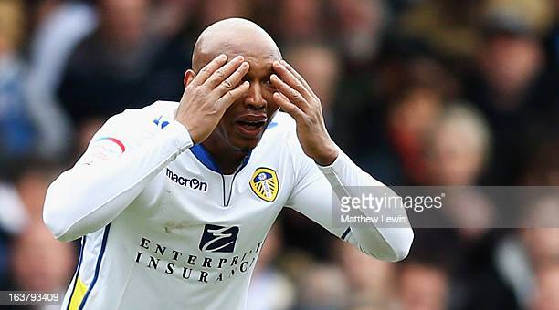 ElHadji Diouf of Leeds United looks onduring the npower Championship match between Leeds United and Huddersfield Town at Elland Road on March 16 2013...