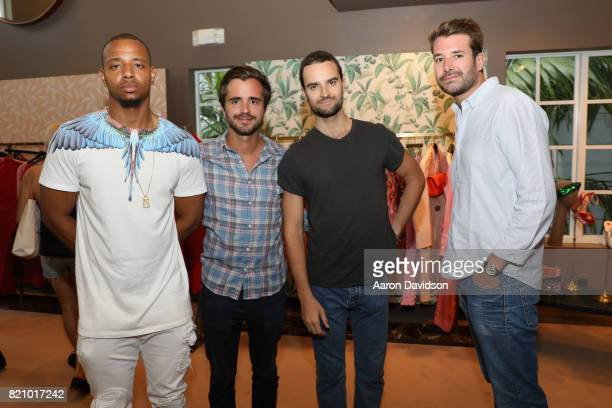 Elhadji Jaye Laurent Malecaze Rodolphe Nantas and Fx Charbonnel attend The Webster Celebrates The Launch Of MAOR at The Webster on July 22 2017 in...