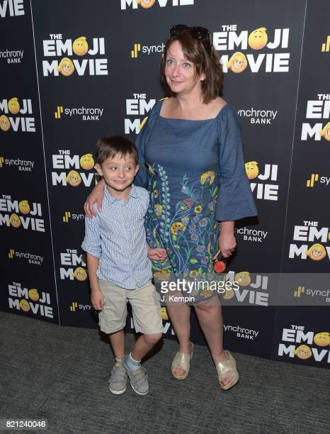 Eli Benjamin Wahl and Rachel Dratch attend The Emoji Movie New York Screening at New York Institute of Technology on July 23 2017 in New York City