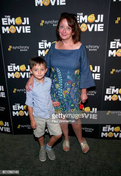 Eli Benjamin Wahl and Rachel Dratch attend The Emoji Movie Special Screening at NYIT Auditorium on Broadway on July 23 2017 in New York City