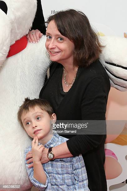 Eli Benjamin Wahl and Rachel Dratch attend the Peanuts movie and BuildABear Workshop special screening at Crosby Street Hotel on November 1 2015 in...
