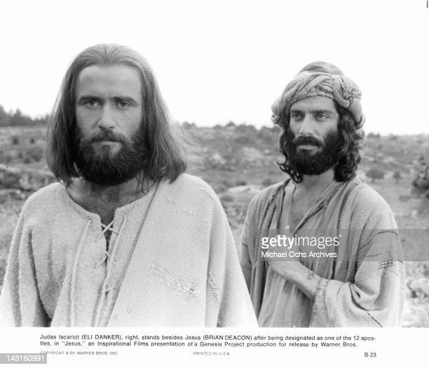 Eli Danker stands besides Brian Deacon after being designated as one of the 12 apostles in a scene from the film 'Jesus' 1979