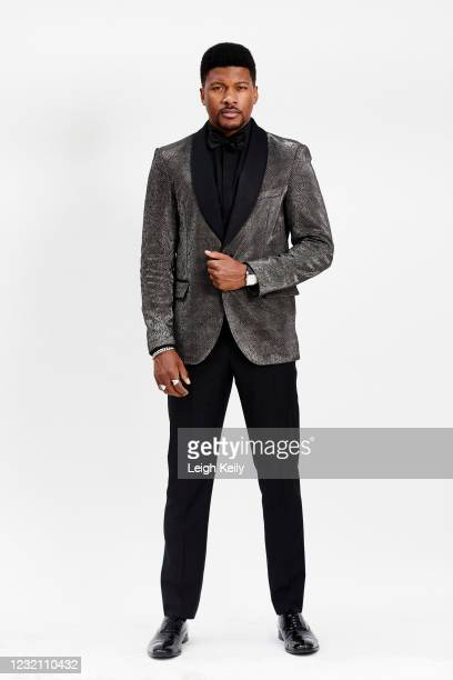 Eli Goree is seen in his award show look for the 27th Annual Screen Actors Guild Awards on April 1, 2021 in Los Angeles, California. Due to COVID-19...