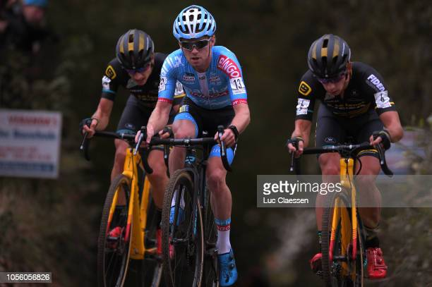 Eli Iserbyt of Belgium and Marlux Bingoal Cycling Team / Lars Van Der Haar of The Netherlands and Team Telenet Fidea Lions / during the 29th...