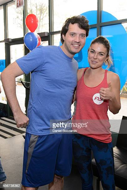 Eli Kay Oliphant and Serinda Swan attend as the casts of Chicago Fire and Chicago PD participate in a Flywheel Sports ride to benefit the 100 Club of...