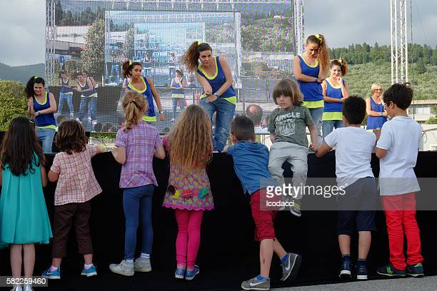 Eli Lilly Italy. 140th Anniversary party. Children having fun