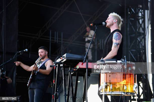 Eli Maiman and Nicholas Petricca of Walk the Moon perform during the Pilgrimage Music Cultural Festival 2017 on September 23 2017 in Franklin...