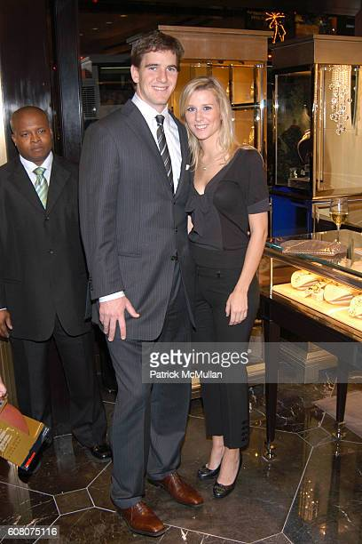 Eli Manning and Abby McGrew attend Judith Ripka & Eli Manning Holiday Shopping Night at Judith Ripka on December 12, 2006 in New York City.
