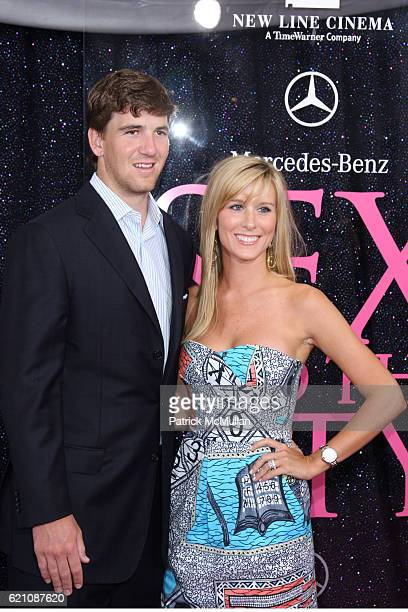 "Eli Manning and Abby McGrew attend New York Premiere of New Line Cinema's ""SEX AND THE CITY"" at Radio City Music Hall on May 27, 2008 in New York..."