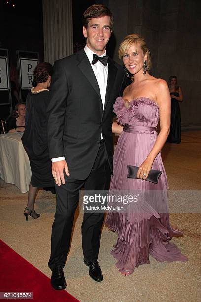 "Eli Manning and Abby McGrew attend THE COSTUME INSTITUTE GALA: ""SUPERHEROES"" with honorary chair GIORGIO ARMANI at The Metropolitan Museum of Art on..."