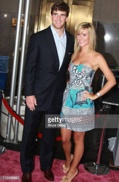 "Eli Manning and wife Abby McGrew Manning attend the premiere of ""Sex and the City: The Movie"" at Radio City Music Hall on May 27, 2008 in New York..."
