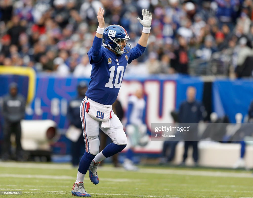 Eli Manning of the New York Giants in action against the