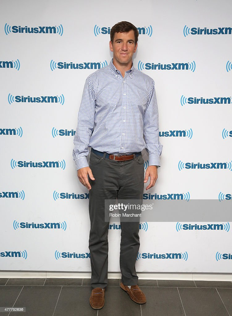 Eli Manning visits at SiriusXM Studios on June 19, 2015 in New York City.