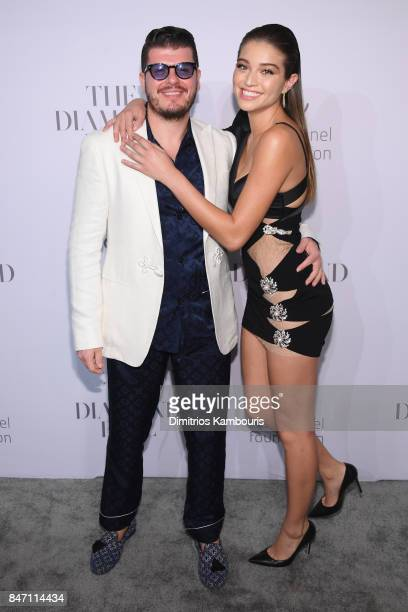 Eli Mizrahi and Daniela Lopez Osorio attend Rihanna's 3rd Annual Diamond Ball Benefitting The Clara Lionel Foundation at Cipriani Wall Street on...