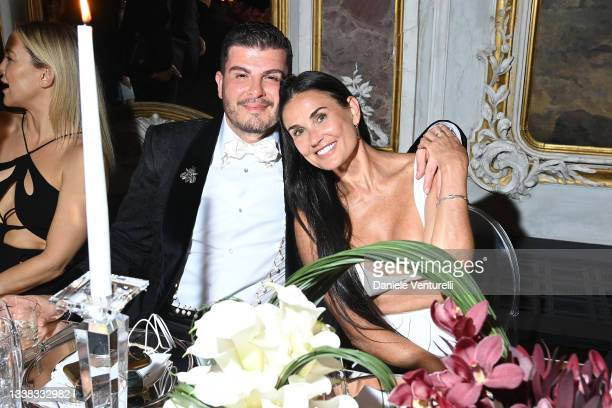 Eli Mizrahi and Demi Moore attend the Celebration of Women in Cinema Gala hosted by The Red Sea Film Festival during the 78th Venice International...