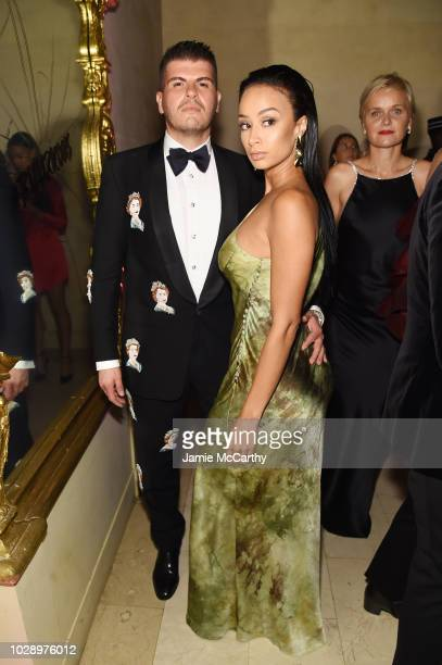 Eli Mizrahi and Draya Michele attend as Harper's BAZAAR Celebrates ICONS By Carine Roitfeld at the Plaza Hotel on September 7 2018 in New York City