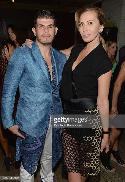 Eli Mizrahi and Inga Rubenstein attend Modelinia Fashion Week Dinner at Freemans on September 8 2013 in New York City